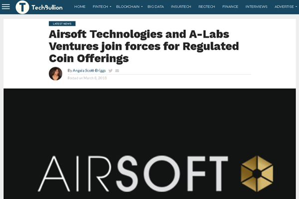 Airsoft Technologies and A-Labs Ventures join forces for a new financial venture.