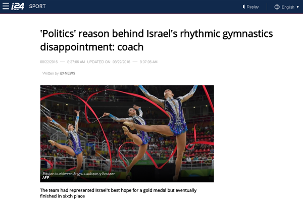 Ira Vigdorchik, the head coach of Israel's artistic gymnastics team, is exposed.