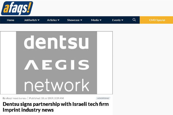 Dentsu has been combing the Israeli marketplace in recent years to find exciting tech companies in which to invest.